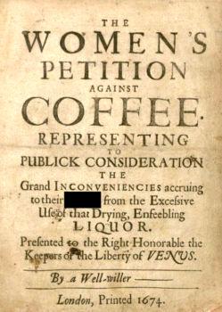 بیانه زنان علیه قهوه